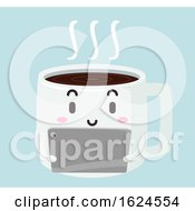 Mascot Coffee Tablet Illustration