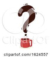 Coffee Question Mark Illustration