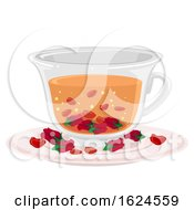 Poster, Art Print Of Canada Rose Tea Illustration