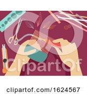 Poster, Art Print Of Hands Quilling Illustration