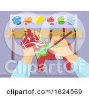 Hands Paint Wooden Horse Sweden Illustration