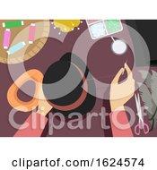 Poster, Art Print Of Hands Hat Making Illustration