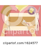 Poster, Art Print Of Hands Embossing Leather Illustration