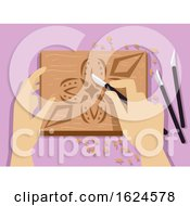 Hands Chip Carving Illustration