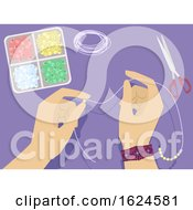 Hands Beads Crafts Illustration
