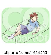 Kid Boy Symptom Cant Stand Illustration