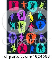 Colored People Dancing Illustration