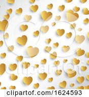 Poster, Art Print Of Gold Hearts Background