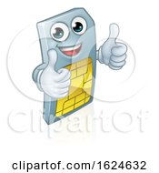 Sim Card Mobile Phone Thumbs Up Cartoon Mascot
