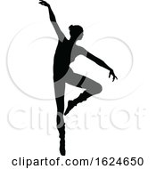 Ballet Dancer Dancing Silhouette by AtStockIllustration