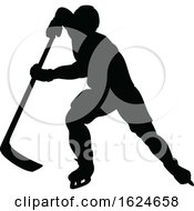 Ice Hockey Player Silhouette