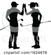 Golfer Golf Sports People In Silhouette by AtStockIllustration