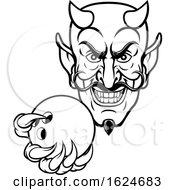 Poster, Art Print Of Devil Bowling Sports Mascot