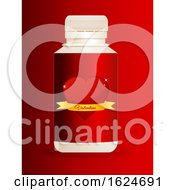 3D Plastic Bottle With Valentine Red Heart Label