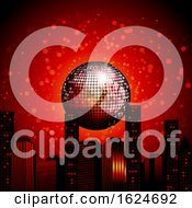 Abstract City Scape With Disco Ball