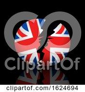 Broken Britain On Black Background