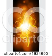 Fluorescent Lucky Shamrock On Glowing Panel