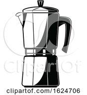 Black And White Coffee Percolator