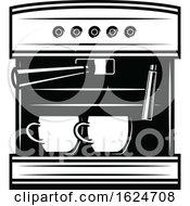 Black And White Espresso Machine