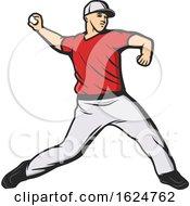 Poster, Art Print Of Baseball Player Throwing