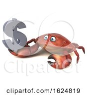 Poster, Art Print Of 3d Crab On A White Background