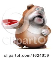Poster, Art Print Of 3d Bulldog On A White Background