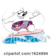 Poster, Art Print Of Cartoon Polar Bear Surfing