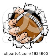 Poster, Art Print Of Football Ball Hand Tearing Background