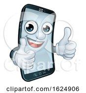 Mobile Phone Thumbs Up Cartoon Mascot