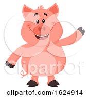 Happy Pig Waving