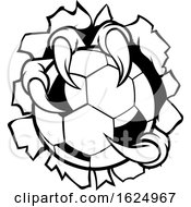 Poster, Art Print Of Soccer Ball Eagle Claw Talons Ripping Background