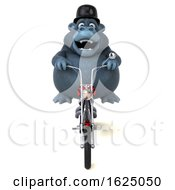 3d Gorilla Mascot Riding A Chopper Motorcycle On A White Background by Julos