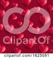 Valentines Day Background With 3D Style Hearts