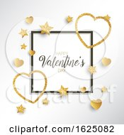 Poster, Art Print Of Glittery Heart Valentines Day Background