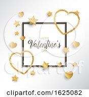 Glittery Heart Valentines Day Background