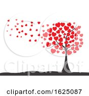 Poster, Art Print Of Valentines Day Background With Tree Of Hearts