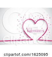 Poster, Art Print Of Valentines Day Background With Hearts