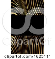 Business Card With A Modern Warped Striped Design
