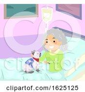 Stickman Woman Senior Hospital Service Cat