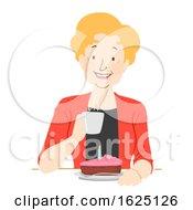 Senior Woman Netherlands Birthday Coffee