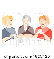 Poster, Art Print Of Senior Woman Coffee Illustration