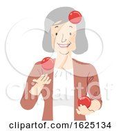 Senior Woman Juggle Balls Illustration