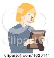 Senior Woman Picture Frame Illustration