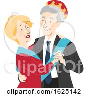 Senior Citizen Prom King Queen Illustration