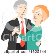 Senior Citizen Couple Dance Illustration