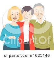 Seniors Citizen Group Illustration