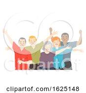 Seniors Citizen Happy Illustration