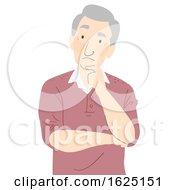 Senior Man Thinking Illustration