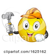 Smiley Mascot Carpenter Illustration