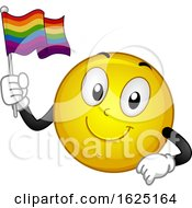 Smiley Mascot Flag Illustration